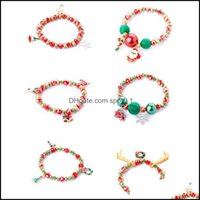 Charm Bracelets Jewelry75%Off Christmas Gift Bracelet Santa Snowman Candy A1 Drop Delivery 2021 Rz9Dk