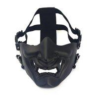 Шлемы Хэллоуин танцевальный шлем версия смеется Праджна Тактическая маска Мужчины и женщины Боно Боно Половина лица