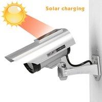 Cámaras falsas impermeables con energía solar Dummy CCTV Seguridad Vigilancia intermitente Rojo LED luz video antirrobo Cámara YZ-3302