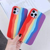 Capa de cor do arco-íris para Apple iPhone 13 12 Pro Max 11 7 8 6 Plus Mini XS Max XR Marca Gradiente Capa de Silicone