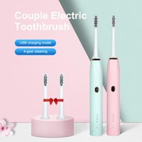Smart Electric Toothbrush Sonic Rechargeable USB 4 Mode IPX7 Waterproof Couples Home Travel Ultrasound Tooth Brush With 2 Heads