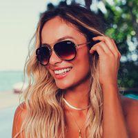 النظارات الشمسية الكل في الطيار المرأة الصيف مرآة رصيف للتدرج نظارات السفر مثير السيدات ظلال oculos