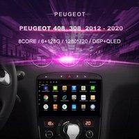 플레이어 자동차 DVD 408 308 2012 - 2021 라디오 멀티미디어 비디오 네비게이션 GPS Android10.0 더블 딘