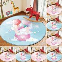 Teppiche Hohe Qualität Runde Teppich Kinder Flanell Teppich Tier Spiel Lernen Sie für Baby Spielen Rechteck im Zimmer