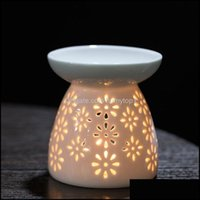 Candle Décor & Gardencandle Holders Ceramic Stove Small Oil Burner Hollow Essential Creative Home Office Crafts Drop Delivery 2021 Xnppf