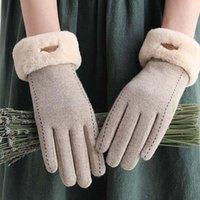 Women Winter wool Gloves Warm Touch Screen cashemere Glove Full Finger Mittens Driving Windproof