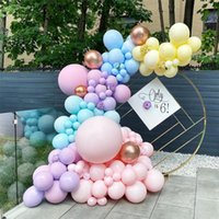 118pcs Macaron Pastel Latex Balloon Chain Colorful Candy Garland Birthday Party 2021 Year Holiday Arch Decoration