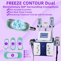 Cryolipolysis Fat Freezing Machine Waist Slimming Cavitation RF Machine Lipo Laser 2 Cryo Heads Can Work At The Same Time CE DHL