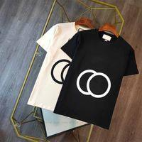 2021 여성 남성 셔츠 연동 G 디자이너 탑스 티 레터 프린트 여름 화이트 블랙