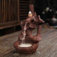 Dehua Zisha creativo arte cinese arti e artigianato ornamenti regalo backflow bruciatore di incenso