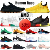 2021 TOP NMD Human Race casual shoes Pharrell Williams yellow BBC Infinite Species R1 V2 core black carbon red triple white men women