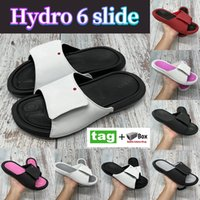 Sommer Hydro 6 Slide Mode Hausschuhe Schuhe Schwarz Weiß Rosa Universität Gym Rot Metallic Gold Coole Grey Männer Frauen Turnschuhe mit Box