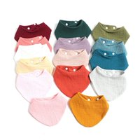Baby Feeding Bib Grembiule Ins Boy Girl Burp Panno Saliva Asciugamano Blank Triangolare 100% cotone Bandana Fazzoletto 148 B3