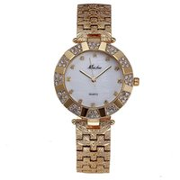 Saatı Bayan Saatler Güzel Çelik Su Geçirmez Moda Kadınlar için Altın Elmas İzle Kuvars Lüks Hediyeler Kadınlar için