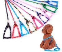 Moda Color Suministros para mascotas 1.0 * 120cm Dog Ridge Cinturón de cuero Nylon Print Cuello Ajustable Cat Cat Accesorios Animales