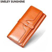 Wallets Genuine Leather Women Wallet Luxury Clutch Coin Purse Holders Money Bags Designer Female Portfolio