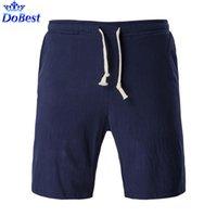 Оптово-дышащие и удобные мужские льняные шорты тренажерный зал Фитнес спортивные боксеры брюки сплошной цвет плюс размер 5XL