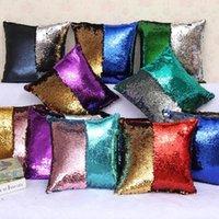 Sirena Sequins Pillow Case due tono Home Divano Auto Cuscino Coperture Decor Cuscino Decorazione di Natale 31 Style 40 * 40cm DHB10473