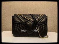 Saco Designer de luxo novo estilo marmont sacos de ombro mulheres de ouro corrente cruz bolso bolsa de couro pu bolas de couro bolsa feminina