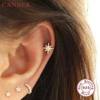 Sterling Silver Cute Small Stud Earings For Women 1 PC Simple Minimalist Geometric Zircon Earrings Piercing Jewelry