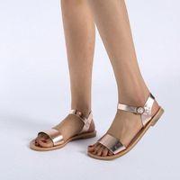 SAGACE Womens Sandalen Massivfarbe PU Leder Sandalen Frauen Mode Stil Flache Sommer Frauen Schuhe Schuhe 2019 41018 i5gi #