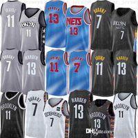 Blaue Brooklyn.NETS.James 13 Harden Basketball Jersey Kevin 7 Durant 11 Irving Mens Kyrie 2020 2021 Neues City Net
