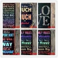 """Wholesale Party Decoration Metal tin Signs Vintage Wall Plaque Retro Club Pub bar Poster Home Deco 12""""x8"""" Life Family rules"""