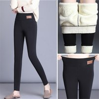 2020 Winter Warm Women Leggings High Waist Plus Velvet Cotton Pants Skinny Slim Black Stretch Comfortable Fleece Female Leggings