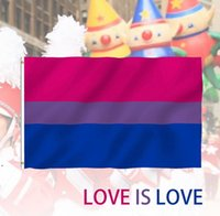 Rainbow Flag Banner 3x5FT 90x150cm Gay Pride Flags Polyester Banners Colorful LGBT Lesbian Parade Decoration ZZD9198
