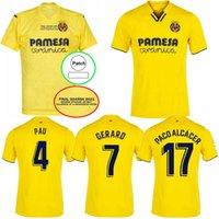 2021 2022 Final Villarreal CF Futebol Jerseys 20 21 22 IBORRA PAREJO GERARD PACO ALCÁCER S.CAZORLA ALUGAR FUTEBAL