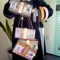 Lüks $ 100 Dolar Bling Rhinestone Çanta Elmas Parti Çanta Lady Doları Para Debriyaj Çanta Akşam Çanta Kadınlar Için
