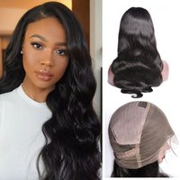 Virgin Brazilian Pre Plucked Body Wave 360 Degree Swiss Lace Frontal Wig Peruvian Human Hair Wigs With Natural Hairline
