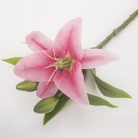 Decorative Flowers & Wreaths 5Pcs Artificial Lily Flores Bouquets Wedding Decoration Fake Home Plants Pographic