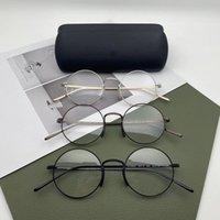 Óculos de leitura de moda 2021 Titânio redondo óculos de óculos para homens de boa qualidade óculos de sol fortes