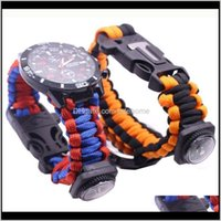 And Hiking Sports & Outdoors Drop Delivery 2021 Paracord Bracelet Multitool Survival Kit Watch Outdoor Rope Wristband With Knife Camping Equi