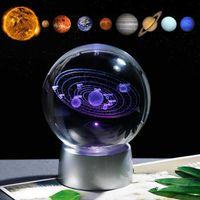 크리스탈 태양계 선물 공을 청구 할 수있는 다채로운 LED 기본 유리 행성 공 파티 호의 Astrophile sh190923에 대 한 선물 선물
