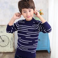 Boy Winter Autumn Knitted Striped Sweater Long Sleeve Pullover Child School Fashion Perform Warm Knitwear For Boys Cardigan