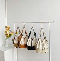 Women Bags Hand-Held Bucket Bag Summer Korean Edition Fashion Trend Personality Spliced Canvas HandBags ZZE6137