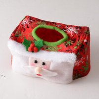 Decorações de Natal tampa de tecido desktop ornamentos home decoração caixa de tecido xmas suprimentos 16 * 10 cm owa9101