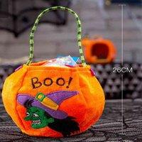 Más reciente Bolsa de dulces de Halloween Cartas portátiles de dibujos animados Calabaza Bruja Kindergarten Bolsos de regalo para niños Bolsos Festival Festival Suministros de fiesta G708AU