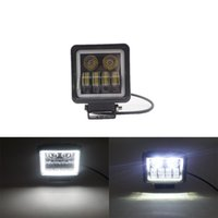Working Light 1pair 1pc 4.5Inch 6000K 40W Waterproof Square LED Portable Spotlights Angel Eyes Bar Offroad Car Boat Work