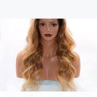 판타지 뷰티 360 레이스 정면 가발 인간의 머리카락 스트레이트 가발 100 % 브라질 머리 옴 브레 블랙 뿌리 1B T 27color 360 레이스 프런트 가발