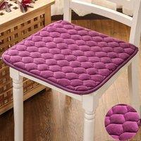 Подушка / декоративная подушка для подушки Офис Офис бархатные тканевые сиденья подушки подушки Квадратные удобные противоскользящие ягодицы домашняя площадка