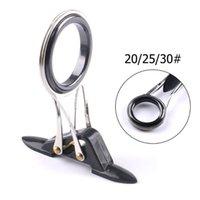 Boat Fishing Rods Foldable Rod Guide Tip Repair Kit Set DIY Eye Rings Steel Ceramics Line Tools