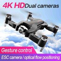 S5 rc drone 4k drones com 1080p hd dual câmera dobrável quadcopter com ângulo ajustável de fluxo ótico câmera rc helicóptero brinquedo x0322