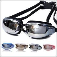 Equipamento Esportes Ao Ar LivrePcs Anti-Nevoeiro Nadar Eyewear Anti-Traviolet Óculos de Óculos Homens e Mulheres Unisex revestimento de Natação Óculos Drop Gotas 2021
