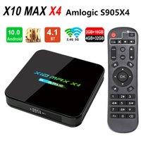 أحدث X10 ماكس X4 8K Amlogic S905x4 TV Box Android 10.0 رباعية النواة 4GB 32GB المزدوج واي فاي بلوتوث