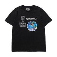Роскошная женская и футболка Travis Scott Co Star Astroworld Perimeter Tour Gourning Pape Print темно короткий рукав футболка