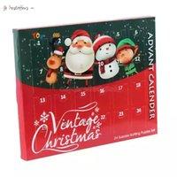 크리스마스 출현 카운트 다운 캘린더 24pcs 금속 와이어 퍼즐 장난감 산타 Sonwman 크리스마스 카운트 다운 깜짝 상자 여자 아이 선물