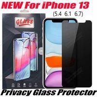 2.5D Анти-подглядывающая анти-шпионская конфиденциальность закаленного стекла экрана экрана для телефона для iPhone 13 12 11 PRO MAX XR XS X 6 7 8 PLUS с розничной упаковкой